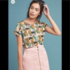 Anthro Zip-front Pencil Skirt